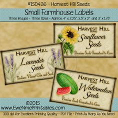 Instant Download Printable Farmhouse Labels by ewenmeprintables