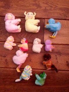 Marktplaats.nl - 11 vintage knijpdiertjes - Speelgoed | Knuffels