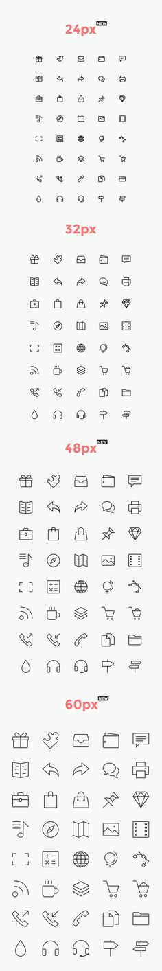 This is volume three of the line icons collection with 40 new icons, perfect for your web and mobile projects...