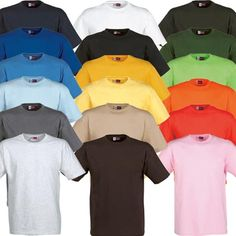 Promotional Coloured T Shirts.