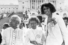 Soror  Bertha Pitts Campbell, (center) along with another  Soror  Winona Cargile Alexander two of the 22 founders of Delta Sigma Theta Sorority, Inc., at the 1981 reenactment of the Women's Suffrage March. (source- Jet Magazine)