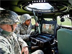 Military personnel use video conferencing and telepresence to connect via satellite in some of the most remote locations.
