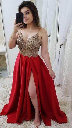 Navy Blue Prom Dresses, Straps Prom Dresses, Beaded Prom Dress, A Line Prom Dresses, Grad Dresses, Homecoming Dresses, Cute Dresses, Evening Dresses, Formal Dresses