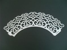 White Butterfly Paper Laser Cut Cupcake Wrappers
