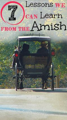 You don't need a horse and buggy to learn a thing or two from the Amish! They're a really frugal and thrifty group of people. I never knew that the Amish did these things!