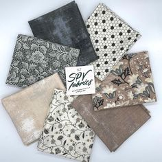 """SPV Fabrics on Instagram: """"🖤Boudoir 7 Piece Curated Fat Quarter Bundle is available in the shop! Bundle includes 3 new Grunge colors, too! We also got our shipment of…"""" Basic Grey, Cotton Quilting Fabric, Green Print, Fat Quarters, Bag Making, Boudoir, Grunge, Floral Prints, Fabrics"""
