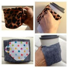 Hand warmer cup sleeves.