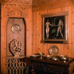 Painting in the Hearst Castle Wyntoon