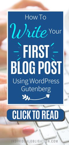 Blogging for beginners guide to write your first blog post on WordPress Gutenberg. This WordPress tips tutorial will show you how using WordPress Gutenberg can be done efficiently. Discover the simplest way to add text, format paragraphs, add images and more with this WordPress tutorials guide. Any blogging beginner can start with this guide and know how to start using the WordPress Gutenberg editor the easy way. #wordpresstips #bloggingtips #blogging #newblogger #blogtips…