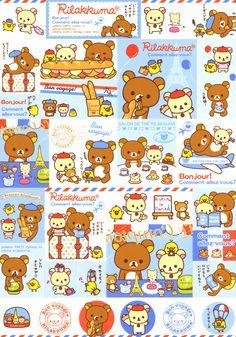 """San-X Rilakkuma """"Paris"""" Memo Rilakkuma Wallpaper, Kawaii Wallpaper, Wallpaper Iphone Cute, Cute Wallpapers, Kawaii Shop, Kawaii Cute, Sanrio Characters, Cute Characters, Hello Kitty"""