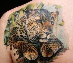 Luipaard tattoo