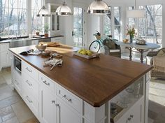 Redesigning Your Kitchen Area: Choosing Your New Kitchen Counter Tops – Outdoor Kitchen Designs Outdoor Kitchen Countertops, Formica Countertops, Walnut Countertop, White Countertops, Painted Countertops, Copper Counter, Kitchen Worktops, Cement Counter, Quartz Counter