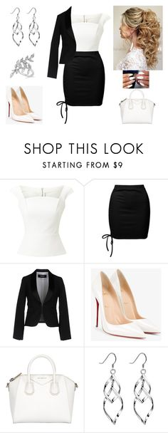 """""""Ladies in power"""" by paoladouka on Polyvore featuring Roland Mouret, Sans Souci, Dsquared2, Christian Louboutin, Givenchy, Allurez, beautiful, blackandwhite and women"""