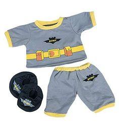 Hat NEW Build A Bear Clothes Jockey Uniform 4 pc Set Pants Arm Patch Shirt