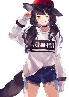 Dark Anime Wolf Girl with Headphones - Bing images Anime Girl Neko, Manga Girl, Art Anime Fille, Anime Wolf Girl, Art Manga, Cool Anime Girl, Chica Anime Manga, Beautiful Anime Girl, Manga Drawing