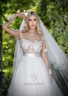 Modelul M01.17 imbina foarte bine stilul romantic al unei printese cu indrazneala femeii moderne, rezultatul fiind o eleganta rapitoare. Maya, Our Wedding, Wedding Inspiration, Romantic, Adventure, Wedding Dresses, Fashion, Valentines Day Weddings, Bridal Gowns