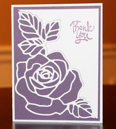 Thank You Card by Cindy Farina - Cards and Paper Crafts at Splitcoaststampers
