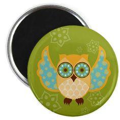 Green Bohemian Owl