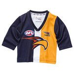 West Coast Eagles Longsleeve Baby Toddlers Footy Jumper Guernsey $46.95