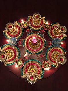 Acrylic beads Rangoli