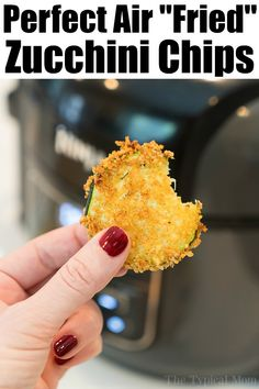 Air Fryer zucchini chips are crunchy low carb snacks that are much healthier than deep fried but have the same great taste you love! Try them in your Ninja Foodi. Air Frier Recipes, Air Fryer Oven Recipes, Fried Zucchini Chips, Zucchini Bread, Zucchini Dinner Recipes, Air Fried Food, Super Healthy Recipes, Easy Recipes, Free Recipes