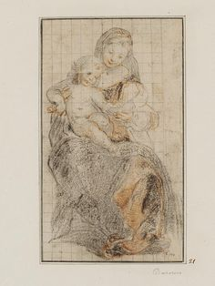 Virgin and Child (c. 1567); red and black chalk on laid paper, squared in black chalk for copying and inscribed with a stylus, Victoria and Albert Museum, London