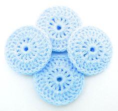 Nylon Dish Scrubbies  Set of 4  Baby Blue Pot by ArtistBeeBee, $8.00
