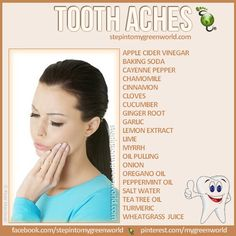 Tooth ache remedies