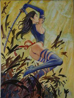 Psylocke by Milo Manara
