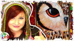 Owl EYE | Beginner Acrylic Painting Lesson | The Art Sherpa