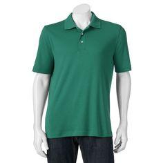 Big & Tall Croft & Barrow® Signature Classic-Fit Polo, Men's, Size: Xl Tall, Turquoise/Blue (Turq/Aqua)