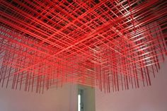 Duct tape ceiling art