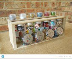 Embellishment Organization by Annie Williams - Silhouette blog