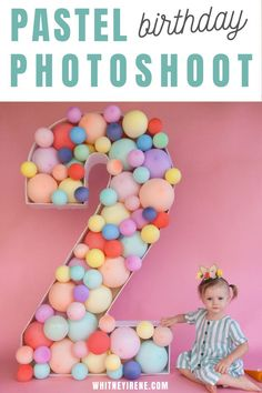 Inspo for the perfect pastel birthday shoot. Capture your spring baby with pastel hues that compliment the season. DIY 2 year old birthday photoshoot Second Birthday Photos, 4 Year Old Boy Birthday, 5th Birthday, Birthday Cakes, Birthday Ideas, Rainbow Birthday Party, Boy Birthday Parties, Birthday Celebration, Diy Birthday Decorations