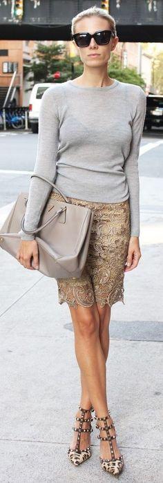 chic street style | Valentino shoes & Prada bag