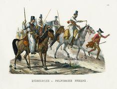 Russian & Polish Horses from Schinz Horse Prints 1827 #horse #antiqueprints