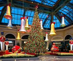 Las Vegas knows how to put on a show, and #Christmas is no exception—find a 42-foot indoor tree at the Bellagio Resort & Casino, along with an 8-foot-tall chocolate-coated reindeer.
