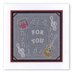 Music plate Groovi card created by Maria Simms