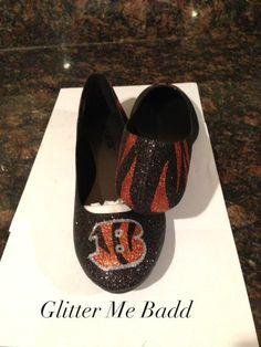 Cincinnati Bengals Glitter flats love these