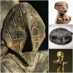 Estatuillas Civilización Vinca, existió alrededor de 7000ac y se separó a través de varios países europeos incluyendo los Balcanes y el Norte de Grecia.