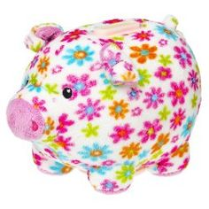 Bank and thousands more of the very best toys at Fat Brain Toys. Pig Bank, Penny Bank, This Little Piggy, Money Box, Ceramic Pottery, Cool Toys, Flower Power, Cute Animals, Plush
