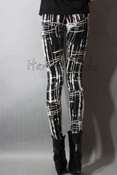 Black and white leggings (can be d-i-y, so don't buy these overpriced simply because of cool pattern, with patience they can be made quite easily)