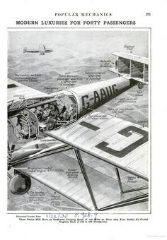 The is the aft portion of the cutaway drawing of the Handley-Page H.P.42 passenger liner that was published in the March, 1931 issue of Popular Mechanics.