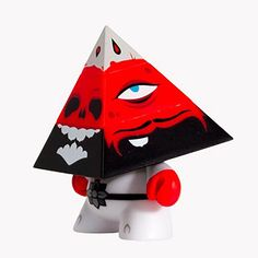 Kidrobot Pyramidun Dunny Red /& Grey Edition 3-Inch by Andrew Bell NEW