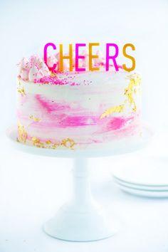 Watercolour Buttercream Party Cake by Sweetapolita