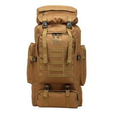 Outdoor 80L Large Capacity Military backpack Tactical backpack  Mountaineering Bag Camping Hiking Military Camo Water-repellent 5252f30e9bc19