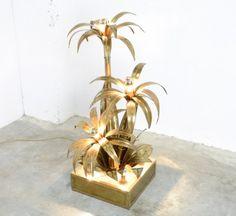 Brass Palm Tree Floorlamp from Maison Jansen, 1970s 4