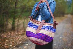 Kiondo bags are intricately made. The designs are hand-woven, and the leather is hand stitched and tied. Each bag takes two to four weeks to make and no two bags are ever the same.