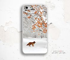 iPhone 6 Case Fox  Fall Leaves iPhone 5s Case iPhone by Percasive
