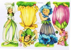 Flower fairies victorian scraps, Germany ef 7310
